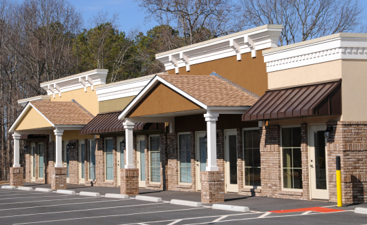 Exterior Commercial Painting On New Building