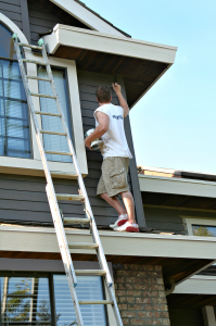 Exterior House Painting being performed in Malvern