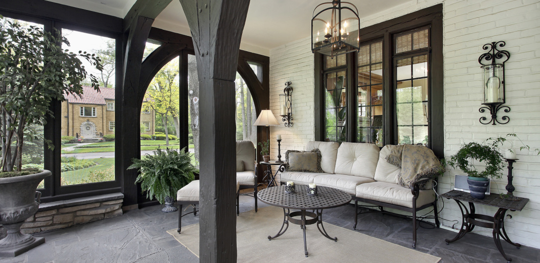 Exterior Painting - Porch on Main Line