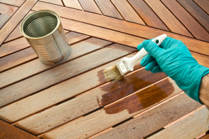 Deck stained, painted for fresh look. Exterior Carpentry / Home Repair