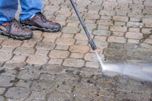 Cleaning Patio Stones with Pressure Washer